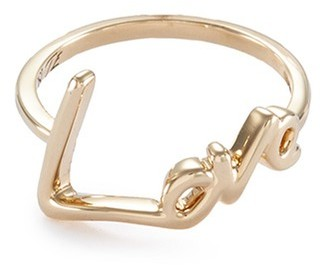 Stephen Webster 'Neon Love' 18k yellow gold ring