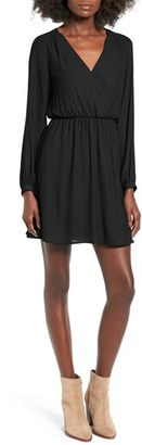 Women's Lush 'Emma' Surplice Skater Dress $49 thestylecure.com