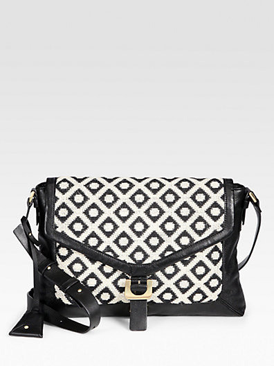 Diane von Furstenberg Patterned Jacquard Shoulder Bag