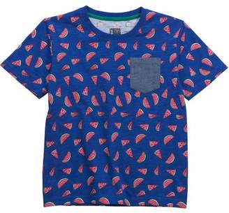 No Retreat Toddler Boys' Graphic Print Contrast Pocket Short Sleeve T-Shirt