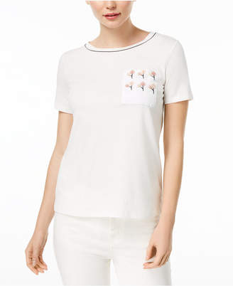 Max Mara Erasmo Embellished-Pocket T-Shirt