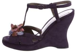 Bottega Veneta Suede Wedge Sandals