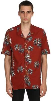 The Kooples Savage Forest Print Fluid Viscose Shirt