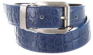 Versace Embossed Leather Waist Belt w/ Tags