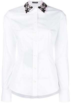 Dolce & Gabbana embellished collar fitted shirt