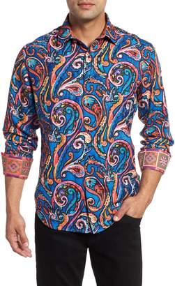 Robert Graham The Encourager Limited Edition Linen Blend Sport Shirt