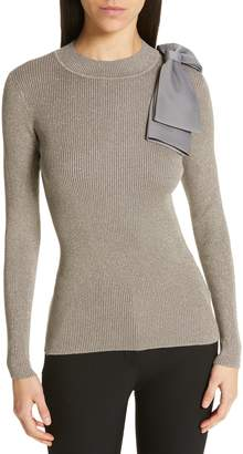 Ted Baker Saaydie Bow Trim Metallic Sweater