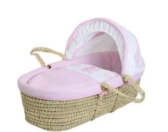 Baby Elegance Star Ted Moses Basket (Pink)
