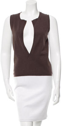 Vera Wang Sleeveless Cashmere Knit Top $75 thestylecure.com