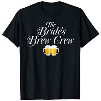 Bride's Brew Crew Bachelorette Party Wedding T-Shirt Gift