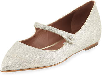 Tabitha Simmons Hermione Glitter Pointed Mary Jane Flat
