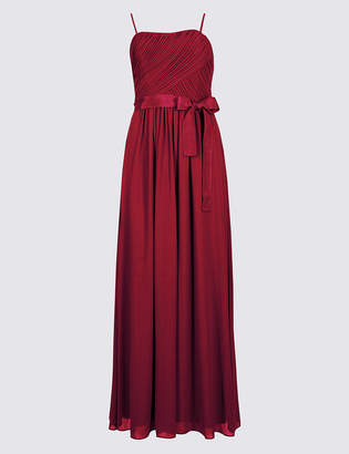 M&S Collection Detachable Straps Pleated Maxi Dress