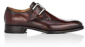 Harris Men's Stitch-Detail Monk-Strap Shoes-Brown