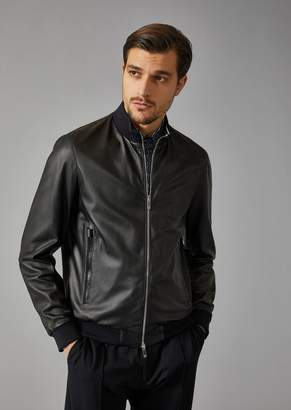 Giorgio Armani Woven Leather Jacket