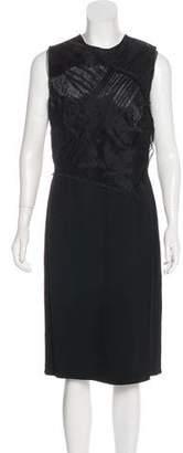 3.1 Phillip Lim Silk-Paneled Midi Dress