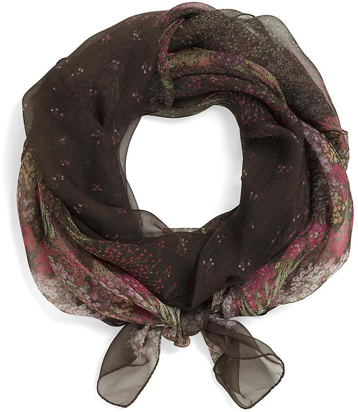 Silk Chiffon Field Flowers Oblong Scarf