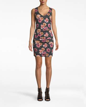 Nicole Miller Dahlia Bloom Cotton Metal Racerback Dress