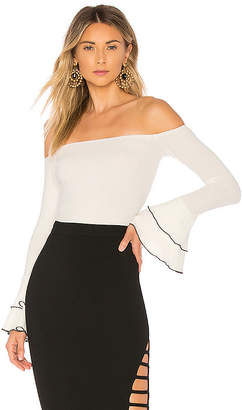 About Us Addie Bell Sleeve Off Shoulder Top