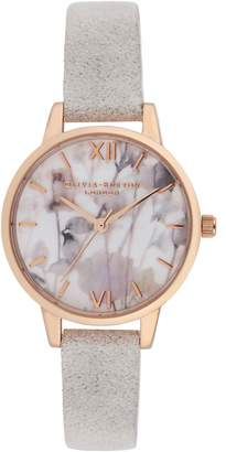 Olivia Burton Leather Strap Watch, 30mm