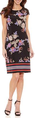 Liz Claiborne Short Sleeve Floral Shift Dress