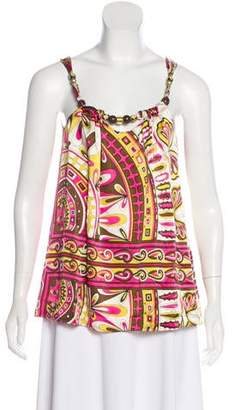 Alice & Trixie Printed Silk Top