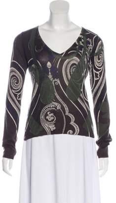 Etro Silk & Cashmere Sweater Green Silk & Cashmere Sweater