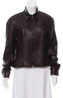 Calvin Klein Collection Casual Leather Jacket