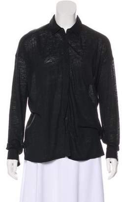 Rag & Bone Linen Button-Up Top
