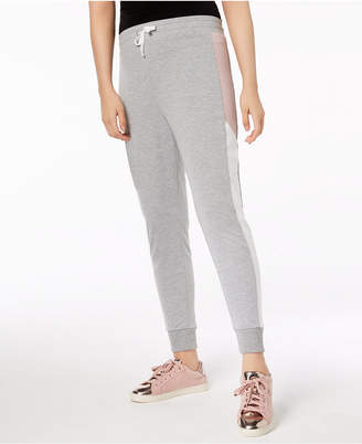 Material Girl Juniors' Colorblocked Jogger Pants