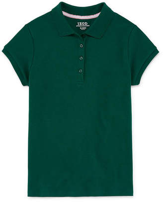 Izod EXCLUSIVE Exclusive Girls Spread Collar Short Sleeve Stretch Polo Shirt
