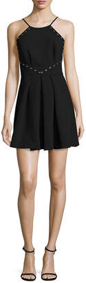 BCBGeneration Lace-Trim Mini Dress
