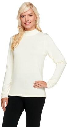 Joan Rivers Classics Collection Joan Rivers Long Sleeve Mock Turtleneck Sweater