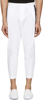 DSQUARED2 White Cotton Cropped Trousers