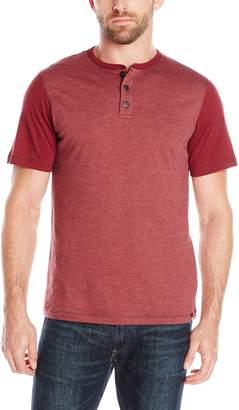 UNIONBAY Men's Porter Nep Jersey Henley Short Sleeve T-Shirt