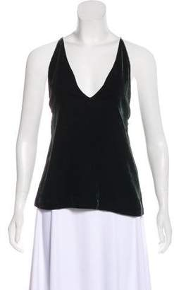 Dion Lee Sleeveless Velvet Top