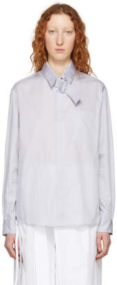 Craig Green Grey Pinstripe Strap Shirt