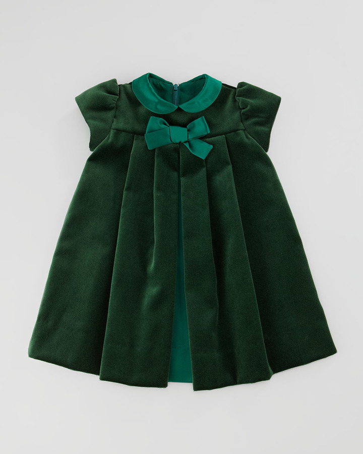 Florence Eiseman Velvet Bow Dress, 12-24 Months
