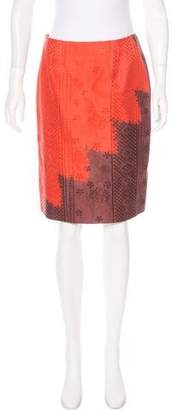 Christian Lacroix Silk-Blend Pencil Skirt