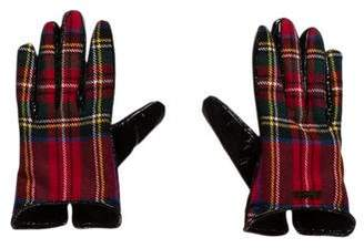 DSQUARED2 Girls' Wool Plaid Gloves w/ Tags