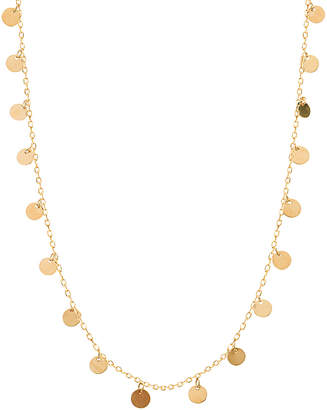 GABIRIELLE JEWELRY 22K Over Silver Disc Necklace
