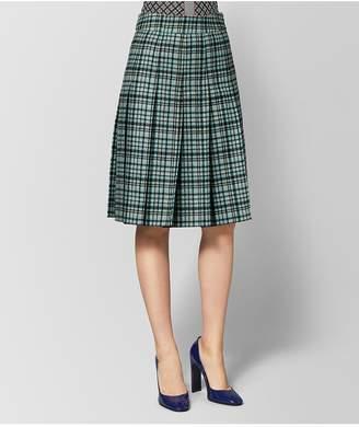 Bottega Veneta Aqua/Nero Wool Skirt