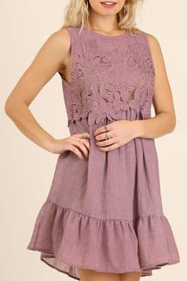 Umgee Lace Linen Dress