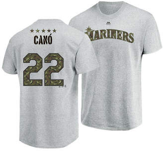 Majestic Men Robinson Cano Seattle Mariners Camo Player T-Shirt