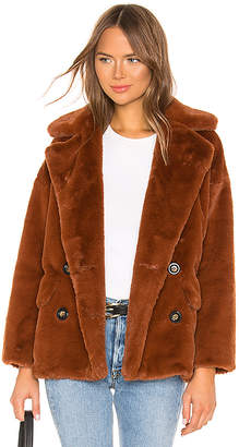 Free People Solid Kate Faux Fur Coat