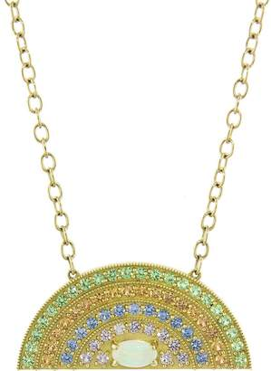Andrea Fohrman Rainbow Pendant Necklace with Opal Oval Center