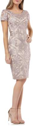 JS Collections Soutache Embroidered Cocktail Dress