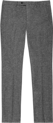 Reiss Equator - Textured Tailored Trousers in Dark Grey