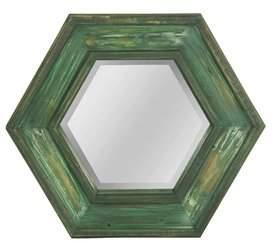 Bloomsbury Market Banfield Hexagon Wooden Framed Accent Mirror