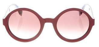 Fendi Gradient Round Sunglasses