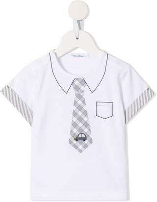 Familiar tie print T-shirt